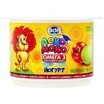 Йогурт Lactel Локо Моко яблуко та груша, збагачений кальцієм, омега 3 та вітаміном D3 1,5% 115г