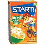 Завтраки сухие Start! зерновые кукурузные хлопья медовые 90г