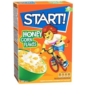 Готовый завтрак Start! Кукурузные хлопья медовые 280г