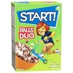 Сухі сніданки Start! Кульки Duo зернові 250г