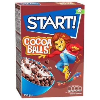 Start! Cocoa Balls Grain Dry Breakfast 250g - buy, prices for EKO Market - photo 1
