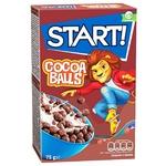 Сухие завтраки Start! зерновые шарики с какао 75г