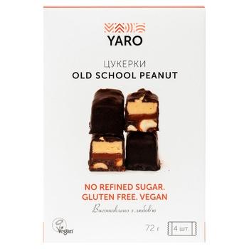 Конфеты Yaro Vegan арахис 72г