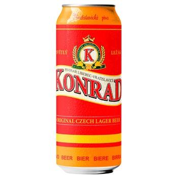 Пиво Konrad світле ж/б 5,2% 0,5л
