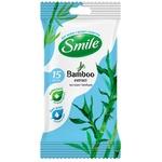 Smile Napkins wet antibacterial bamboo 15pcs
