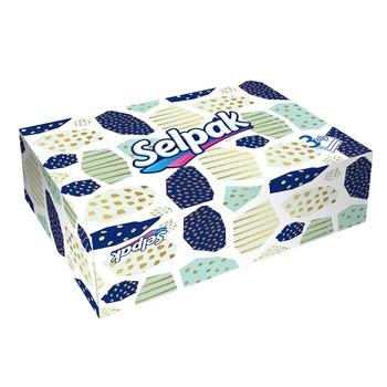 Салфетки бумажные Selpak Super Soft 70шт - купить, цены на Ашан - фото 1