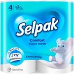 Бумага туалетная Selpak Comfort белая 4шт