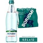 Вода Borjomi минеральная газированная стеклянная бутылка 0,5л