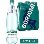 Вода минеральная Borjomi ПЕТ 0,75л*6шт