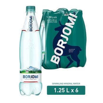Вода Borjomi минеральная лечебно-столовая сильногазированная  пластиковая бутылка 1,25л