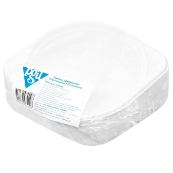Plate disposable plastic 152mm 500ml 100pcs