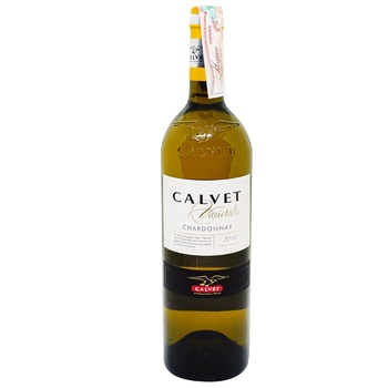Вино Calvet Varietals Chardonnay белое сухое 12% 0,75л Франция - купить, цены на МегаМаркет - фото 1