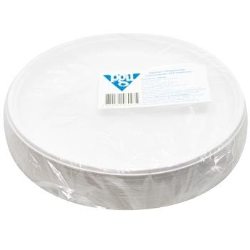 Тарілка Pgu пластикова одноразова глибока 100шт