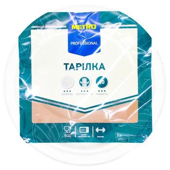 Тарелки Metro бумажные круглые 10шт. 17см - купить, цены на Метро - фото 1