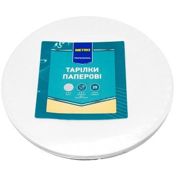 Metro Professional Paper Plate 18cm 25pcs