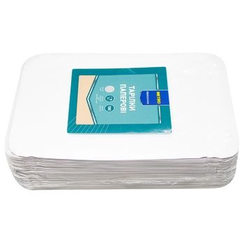 Тарелка бумажная Metro Professional прямоугольная 100шт.