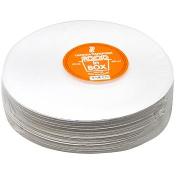 Food in Box Paper Plate 23cm 100pcs