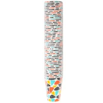 Стакан бумажный цветной 340мл 50шт