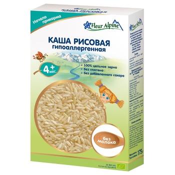 Fleur Alpine For Children From 4 Months Dairy-Free Hypoallergenic Rice Porridge 175g