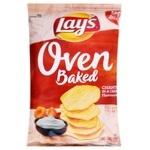 Чіпси Lay's Запечені зі смаком лисичок у сметані 125г