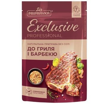 Натуральная приправа без соли для гриля и барбекюExclusive ProfessionalPRIPRAVKA 40г - купить, цены на Ашан - фото 1
