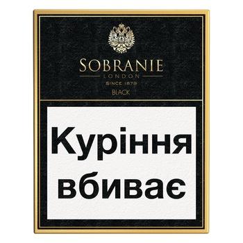 Сигарети Sobranie Black - купити, ціни на CітіМаркет - фото 1