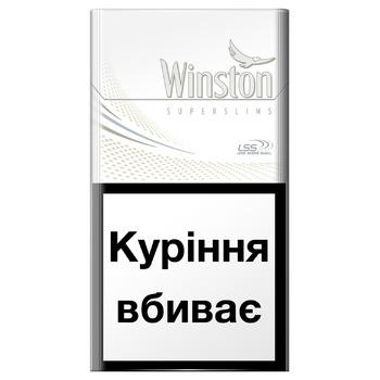 Цигарки Winston White Super Slims - купити, ціни на ЕКО Маркет - фото 1