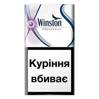 Сигареты Winston Xspression Purple Super Slims - купить, цены на СитиМаркет - фото 1