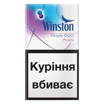 Цигарки Winston XStyle Duo Purple - купити, ціни на CітіМаркет - фото 1