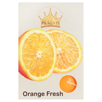 Pragnis Candle flavored Orange 8X12cm 6pcs - buy, prices for Metro - photo 1