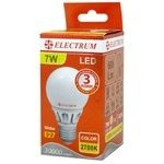 Лампа Electrum Led шар D60 7W Е27 2700K A-LG-0493