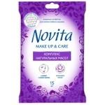 Novita Make up Delicate Wet wipes complex of natural oils 15pcs