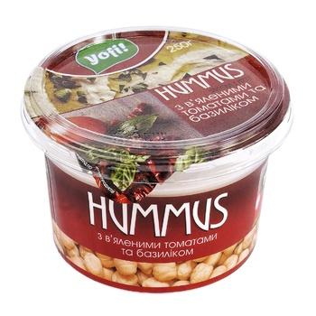 Хумус Yofi! с вялеными томатами и базиликом 250г - купить, цены на Метро - фото 1