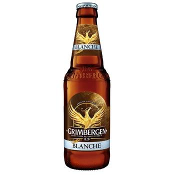 Пиво Grimbergen Blanche світле нефільтроване 5,65% 0,33л