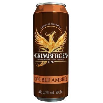 Пиво Grimbergen Double-Ambree темное 6,5% 0,5л