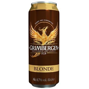 Пиво Grimbergen Blonde светлое 6,7% 0,5л - купить, цены на СитиМаркет - фото 1