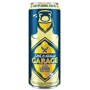 Пиво Seth & Riley's Garage Hard Lemon светлое 4,6% 0,5л - купить, цены на Ашан - фото 1