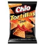 Чіпси Chio Tortillas кукурудзяні зі смаком перцю чилі 125г