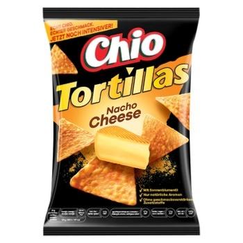 Чипсы Chio Tortillas Nacho кукурузные со вкусом сыра 125г - купить, цены на Метро - фото 1