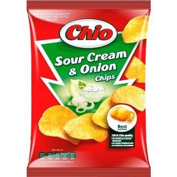 Чіпси Чіо Чіпс картопляні зі смаком сметани та цибулі 150г Угорщина - купити, ціни на МегаМаркет - фото 1