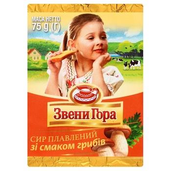 Сир плавлений Звенигора зі смаком грибів 45% 75г - купити, ціни на Ашан - фото 1