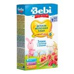 Каша детская Беби Премиум Злаки с малиной и вишней молочная сухая быстрорастворимая обогащенная витаминами и минералами 5-6 порций с 6 месяцев 200г