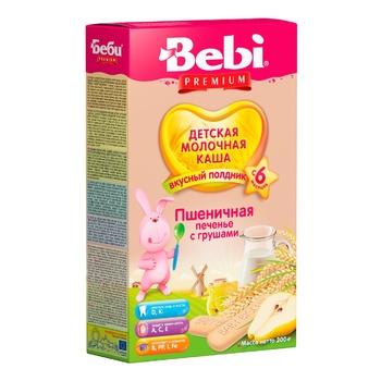 Каша дитяча Бебі Печиво з грушами для полуденка молочна пшенична суха швидкорозчинна з 6 місяців 200г - купити, ціни на CітіМаркет - фото 1
