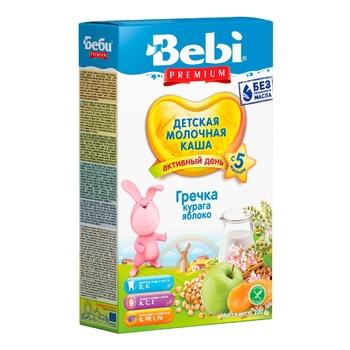 Baby porridge Bebi Premium buckwheat apple dry apricots for 5+ months 200g - buy, prices for CityMarket - photo 1