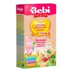 Каша молочна Bebi Premium для підвечірку вівсяна з печивом вишнею і яблуком 200г