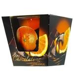 Свеча Bartek с ароматом апельсина в шоколаде в стекле 115г