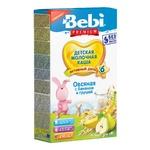 Каша молочна Bebi Premium вівсяна з бананом і грушею для дітей з 6 місяців 200г
