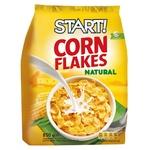 Кукурудзяні пластівці Start натуральні 700г - купити, ціни на Ашан - фото 1