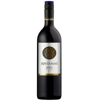 Вино Apatamas Merlot сухое красное 0,75л