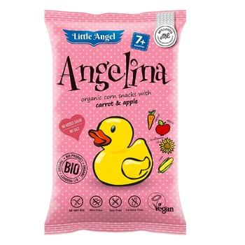 Снеки Angelina кукурудзяні дитячі органічні без глютену 30г - купити, ціни на Ашан - фото 1